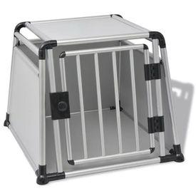 Cutie de transport pentru câini, aluminiu, L