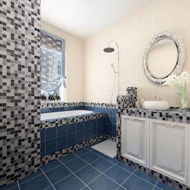 Dale Sticlă Mozaic Negru-Alb-Gri 40 buc 4,28 mp