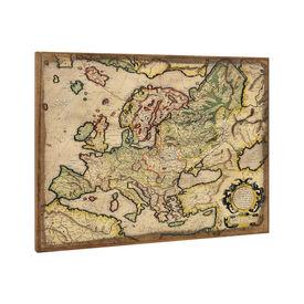 Design fotografie de perete - Harta Europei Model 5- cu rama - 60x80x2,8cm