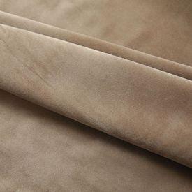Draperii opace, 2 buc., bej, 140x225 cm, catifea, cu cârlige