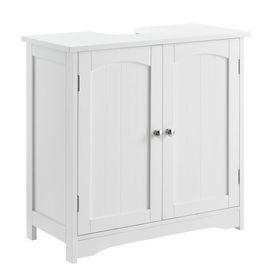 Dulap baie AANT-0338 pentru lavoare/chiuvete montabile pe blat, 60 x 60 x 30 cm, placa MDF, lacuit, alb
