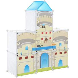 Dulap copii - dulap depozitare model castel albastru - DIY sistem asamblare raft