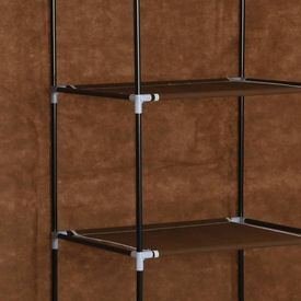 Dulap cu bare și compartimente, maro, 150x45x175 cm, textil