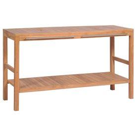 Dulap de chiuvetă baie, lemn masiv de tec, 132 x 45 x 75 cm