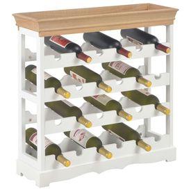 Dulap de vinuri, alb, 70 x 22,5 x 70,5 cm, MDF
