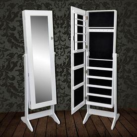 Dulap vertical cu oglindă pentru bijuterii