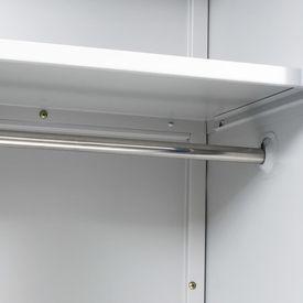 Dulap vestiar cu 2 uși, metal, 90x40x180 cm, gri și albastru