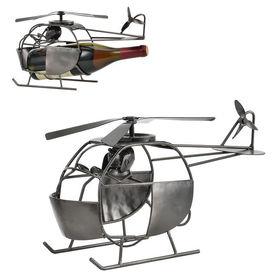[en.casa]® Suport elegant sticla vin - suport sticla - elicopter- cadou