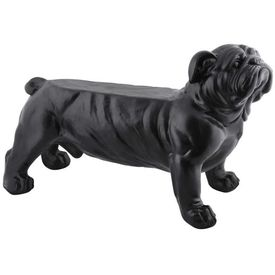 Esschert Design Bancă de grădină Bulldog negru AV14