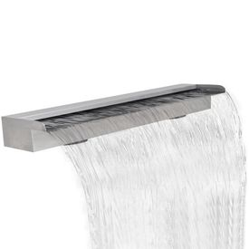 Fântână cascadă dreptunghiulară de piscină din oțel inoxidabil 150 cm
