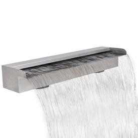 Fântână dreptunghiulară tip cascadă din oțel inoxidabil 60 cm