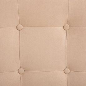 Fotoliu de masaj rabatabil cu taburet, crem, textil catifelat