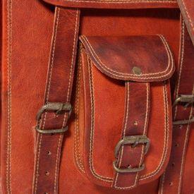Geantă de umăr din piele naturală pentru laptop 7 inci, maro
