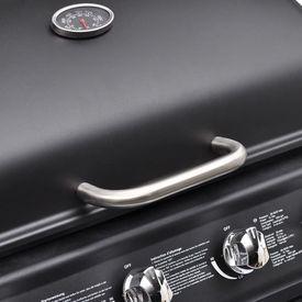 Grătar gaz BBQ cu 4+1 arzătoare, negru