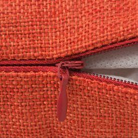 Huse de pernă cu aspect de pânză, 80 x 80 cm, teracotă, 4 buc.