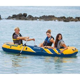 Intex Set barcă gonflabilă Challenger 3 cu vâsle și pompă, 68370NP