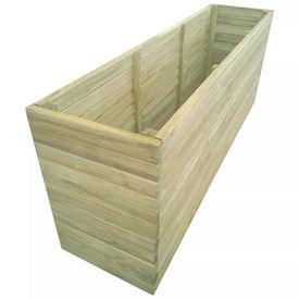 Jardinieră de grădină din lemn de pin tratat, 200 x 50 x 77 cm