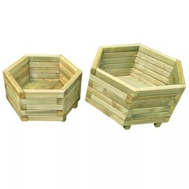 Jardinieră grădină, 2 buc., lemn de pin tratat