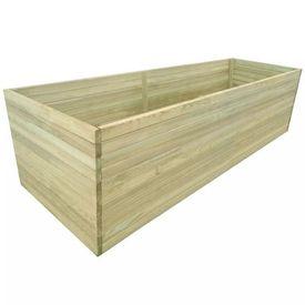 Jardinieră grădină din lemn de pin tratat, 200x100x77 cm
