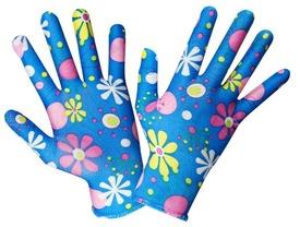 Manusi Gradina Motiv Floral ( Albastru ) - 673734