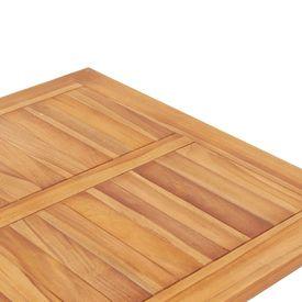 Masă de bar de exterior, 65 x 65 x 110 cm, lemn masiv de tec