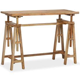 Masă pentru proiecte, lemn masiv de mango, 116 x 50 x 76 cm