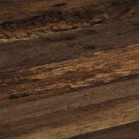 Măsuță de cafea Opium, lemn traverse și oțel, 80x78x35 cm