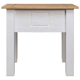 Noptieră, alb, 50,5x50,5x52,5 cm, lemn de pin, gama Panama
