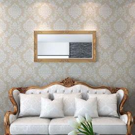 Oglindă verticală în stil baroc, 120 x 60 cm, auriu