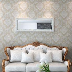 Oglindă verticală în stil baroc, 140 x 50 cm, alb