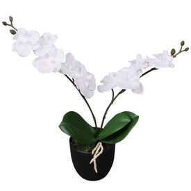Orhidee artificială cu ghiveci, 30 cm, alb