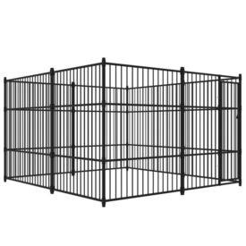 Padoc de câini pentru exterior, 300 x 300 cm