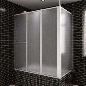 Panou separeu pentru baie 70 x 120 x 140 cm Formă L Pliabil în 4