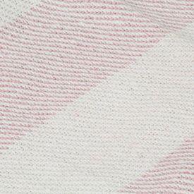 Pătură decorativă, roz învechit, 125 x 150 cm, bumbac, dungi