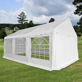 Pavilion grădină PVC 4 x 6 m Alb