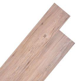 Plăci de pardoseală, PVC, 5,26 m², stejar maro