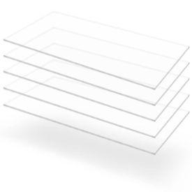 Plăci din sticlă acrilică transparentă, 5 buc, 60x120 cm, 3 mm