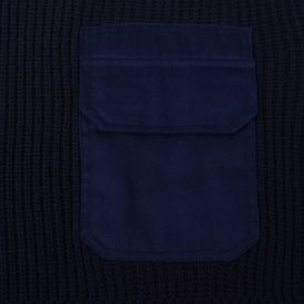 Pulovere de lucru bărbați 3 buc. bleumarin/kaki/negru, XL