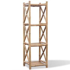 Raft pătrat cu 4 niveluri din bambus
