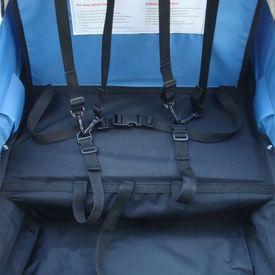 Remorcă bicicletă pentru copii, cuplaj inclus, 36 kg, albastru