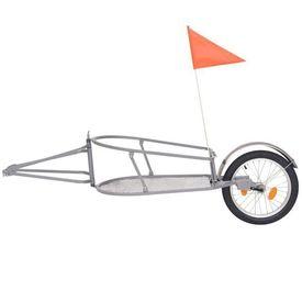Remorcă de bicicletă pentru bagaje, cu sac portocaliu și negru