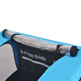 Remorcă de bicicletă pentru copii, gri și albastru, 30 kg