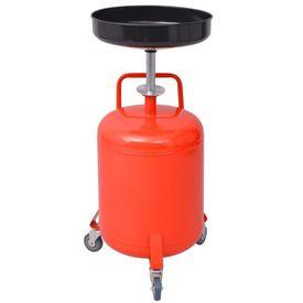 Rezervor decantare ulei uzat, 49,5 L, oțel, roșu