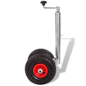Roată manevră pentru remorcă cu 2 anvelope pneumatice, 200 kg