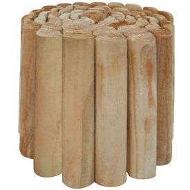 Rolă de bușteni pentru peluză, lemn de pin tratat, 250x30 cm