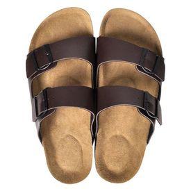 Sandale unisex din plută bio, 2 curele cu cataramă, mărime 43, maro
