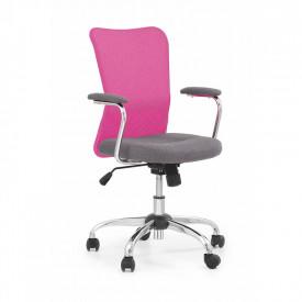 Scaun birou copii mesh HM Andy roz