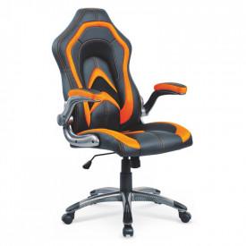 Scaun gaming HM Cobra negru - portocaliu