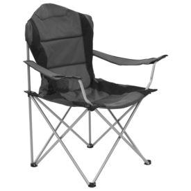 Scaune de camping pliabile, 2 buc., gri, 96 x 60 x 102 cm