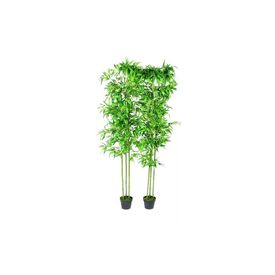 Set 2 Plante Bambus Artificiale Decorațiune Casă 190 cm